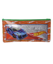 Hotwheels Regular Sparkle Pencil Pouch - Orange