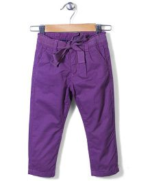 Sela Full Length Pants - Dusty Purple
