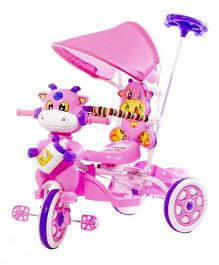 Luusa Hunny Bunny Tricycle With Canopy - Pink