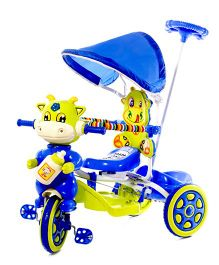 Luusa Hunny Bunny Tricycle With Canopy - Blue Green
