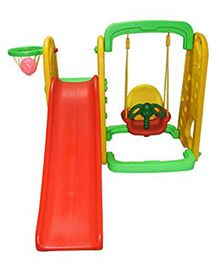 Playgro Toys Elephant Slide With Swing - PGS-215 (color may vary)