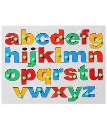 Little Genius English Alphabet Tray Lower Case - Multicolor