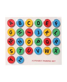 Little Genius Wooden Alphabet Pairing Set Capital-to-Small - Multicolor