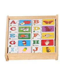 Little Genius English Alphabetical Puzzles Set of 26 - 2 Pieces Each