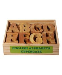 Little Genius English Wooden Alphabets Uppercase - 26 Pieces