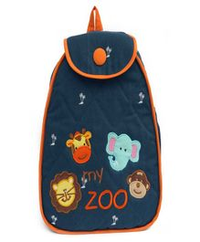 Little Pipal My Zoo Junior Backpack - Green And Black