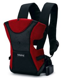Babyhug Kangaroo Pouch 3 Way Baby Carrier Flexible Head Support - Red & Black