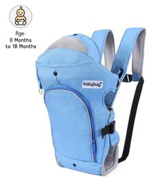 Babyhug Comfort Nest 3 Way Baby Carrier With Adjustable Infant Head Support  - Sky Blue