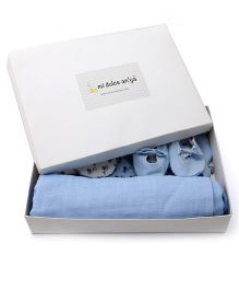 Mi Dulce An'ya Organic Cotton Gift Set Pack of 5 - Blue