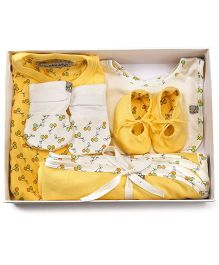 Mi Dulce An'ya Organic Cotton Gift Set Pack of 5 - Yellow