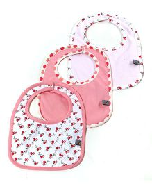 Mi Dulce An'ya Organic Cotton Bibs Set of 3 - Pink