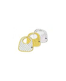 Mi Dulce An'ya Organic Cotton Bibs Set of 3 - Yellow White