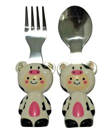 EZ Life 2 Piece Cow Cutlery Set - Beige