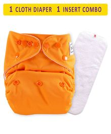 Babyhug Free Size Reusable Cloth Diaper With Insert - Orange