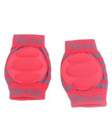 Babyhug Elbow & Knee Protection Pads Protection Pads - Red & Grey