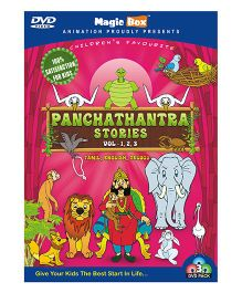 Panchathantra Stories DVD Volume 1 2 And 3 - Tamil English And Telugu