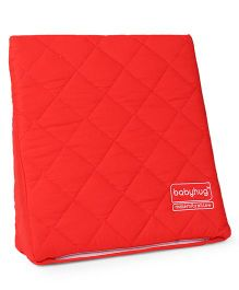 Babyhug Maternity Wedge Pillow With Quilted Cover - Red