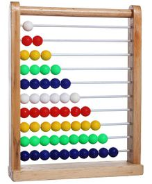 Little Genius Wooden Abacus Toy - Multicolour