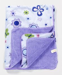 Babyhug Sherin & Poly Wool All Weather Blanket Butterfly Print (Color May Vary)
