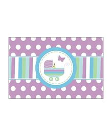 Preetyurparty Baby Shower Table Mats - Purple