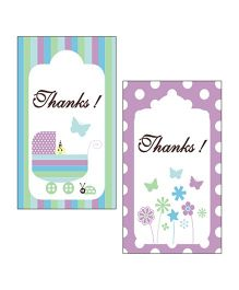 Prettyurparty Baby Shower Thank You Cards Pack of 2 - Multi Color