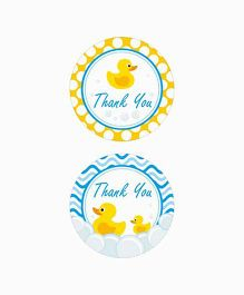 Prettyurparty Rubber Ducky Baby Shower Thank You Cards
