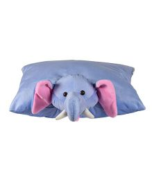 Ultra Elephant Applique Cushion - Blue