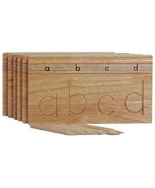 Little Genius Wooden Carving English Alphabets Lowercase - Set of 6 Trays