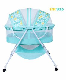 1st Step Rocker cum Bassinet with Storage Diamond Print - Blue