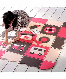 EVA Waterproof Floor Puzzle Playmat - Red