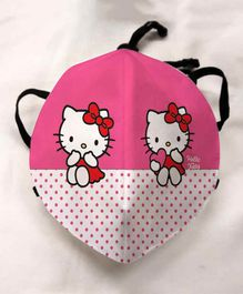 Hello Kitty Anti Pollution Face Mask Smiley Print - Black