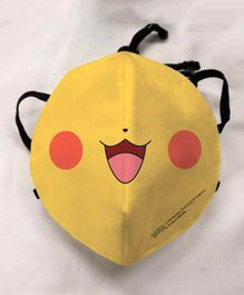 Pokemon Anti Pollution Face Mask Smiley Print - Black