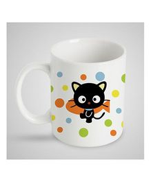 Stybuzz Kids Ceramic Mug Kitty & Polka Dot Print Multicolor - 300 ml