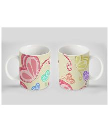 Stybuzz Kids Ceramic Mug Butterfly Print Multicolor 300 ml - Single Piece