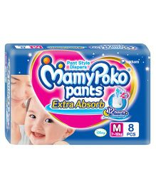 MamyPoko Extra Absorb Pant Style Diapers Medium - 8 Pieces