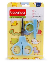 Babyhug Scissors & Nail Clipper Set - Sky Blue