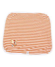 Tinycare Striped Print Towel - Orange