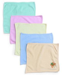 Tinycare Napkins Butterfly Design Set of 5 - Multicolor