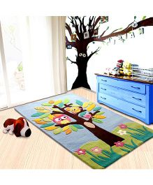 Little Looms Tree Print Rug - Multicolour