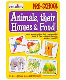 Creatives - Animals Their Homes & Food Activity cards- Preschool