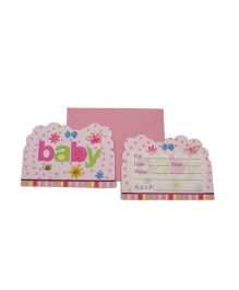 Funcart Butterfly Baby Theme Invitation Cards - Pack of 6