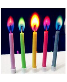 Funcart Birthday Candles With Colored Flames