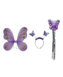 Funcart Lavender Purple Butterfly Wings Set