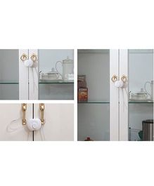 Blossoms Flexible Cabinet Latch - White