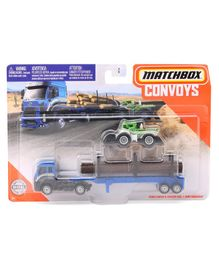 Macthbox Free Wheel Die Cast Ford Cargo & Dirt Smasher Truck - Blue Green