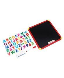 Itoys 4 In 1 Magnetic Slate Red & Black - 43 Pieces