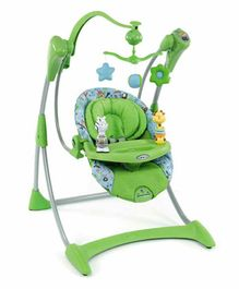 Graco Silhouett Swing With 5 Point Safety Harness - Green