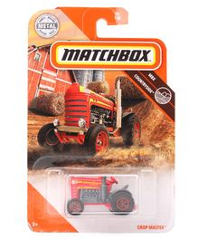 Matchbox Die Cast Free Wheel Tractor Crop Master Toy - Red