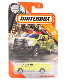 Matchbox Die Cast Free Wheel Ford F-550 Superduty Toy - Yellow
