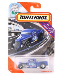 Matchbox Die Cast Free Wheel 1935 Ford Pickup Toy Car - Blue
